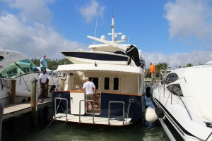 Yachts continue to file in at the docks at Yachts Miami Boat Show on Feb. 4.