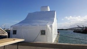 M/Y Double Down underwent extensive refit work, including a paint job, at Taylor Lane Yacht and Ship's satellite location in Fort Pierce. PHOTO PROVIDE