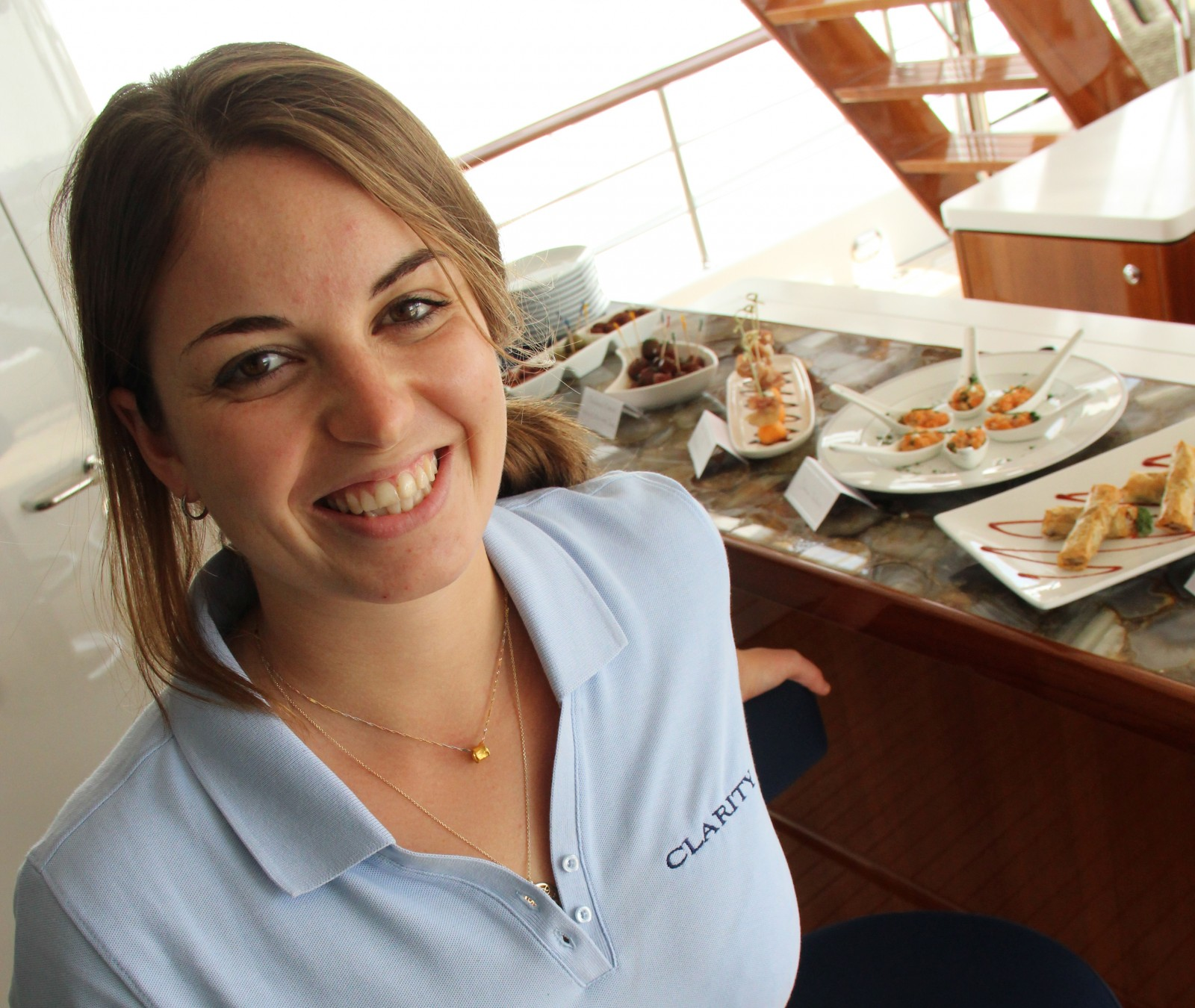 M/Y Clarity Chef Veronique Addy has studied raw food preparation techniques in Bali and has a certificate in Juice Therapy. Her goal is to help crew and guest eat healthy. Photo by Suzette Cook