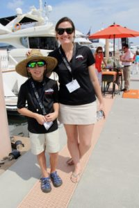 Yacht crew have fun at Palm Beach International Boat Show on Friday