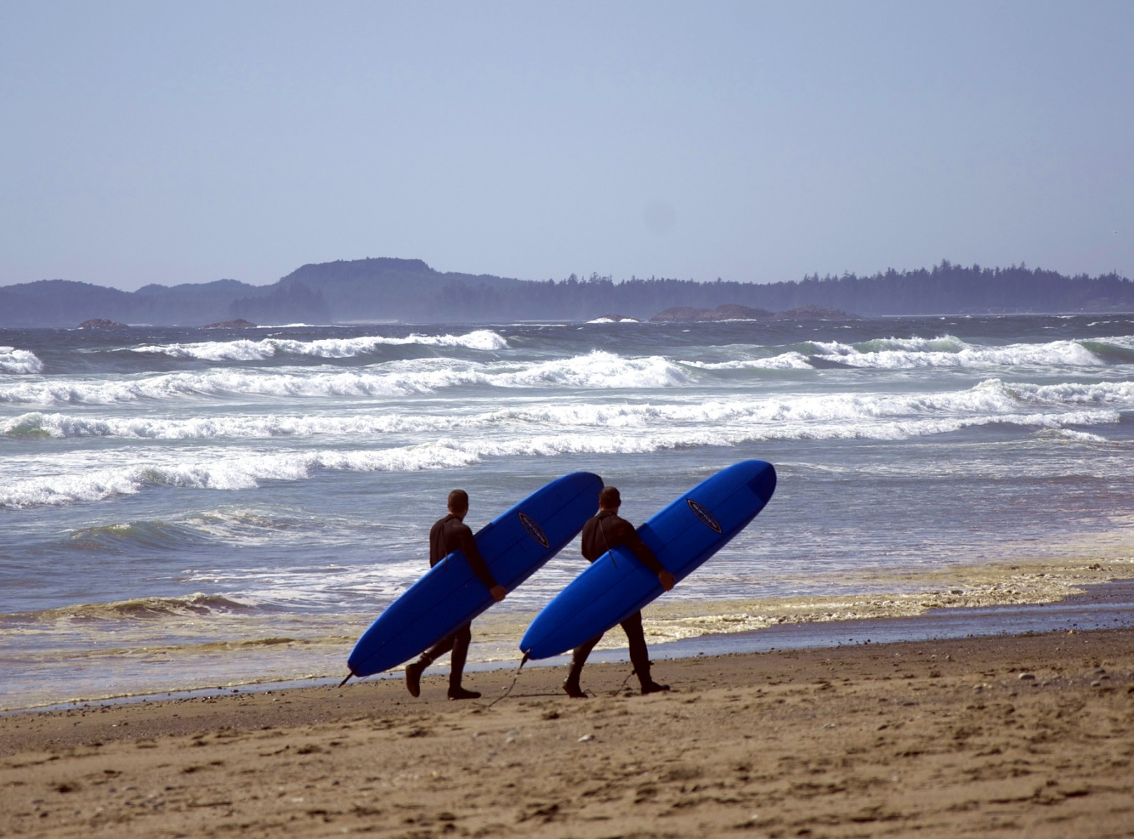 Sweeping sand beaches with layers of waves rolling off the Pacific attract surfers year round. PHOTO/Tourism Ucluelet