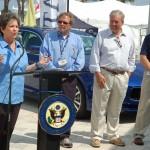 U.S. Congresswoman Lois Frankel (D-FL) explains her bill at the Palm Beach International Boat Show. Photo by Dorie Cox
