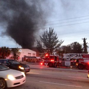 A fire broke out on March 1 at Sailorman New & Used Marine store in Ft. Lauderdale. (PHOTO/Gordon Connell)