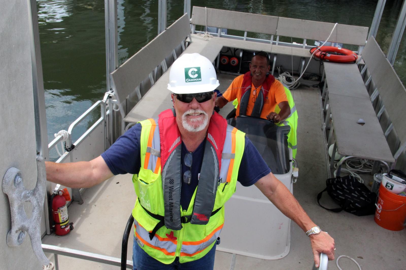 Capt. Dean Chambers, of Tampa, has 40 years of experience running dredge operations.
