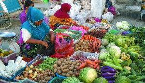 Fresh fish and vegetable market in Labuan Bajo, the gateway to Komodo National Park.