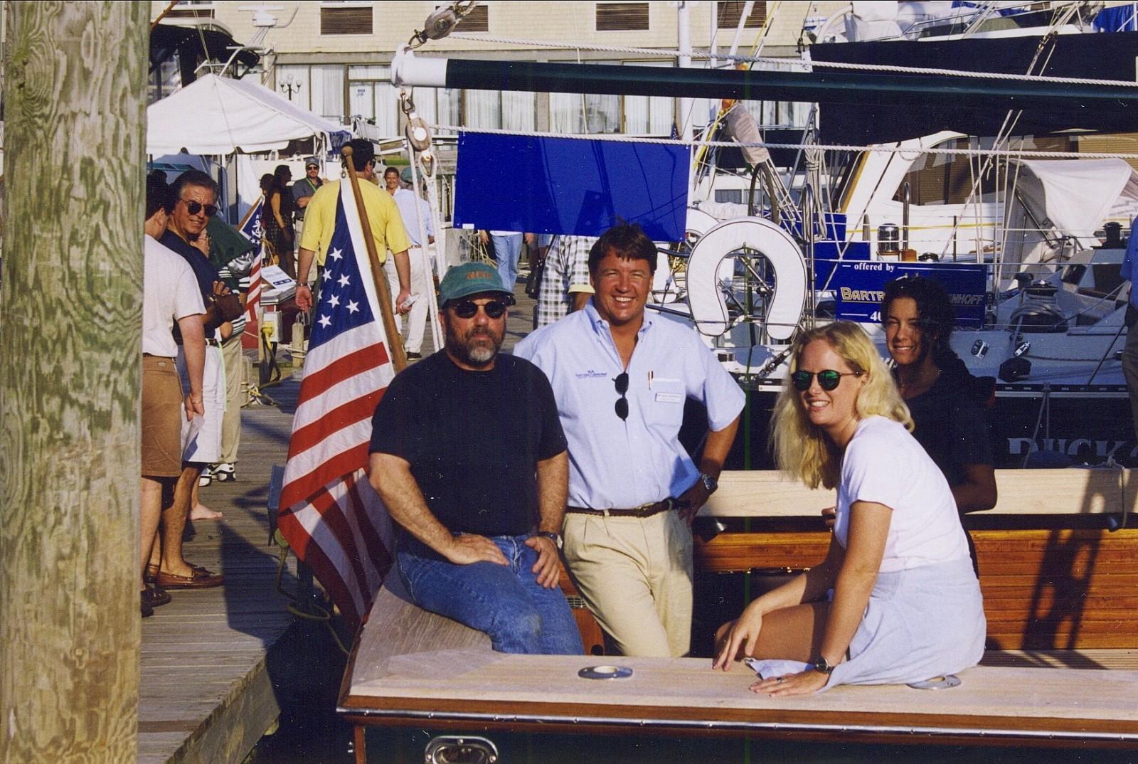 Billy Joel, David Lacz, Karin Hill and Julie Miller in an undated photo taken in Newport, RI.