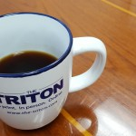 Triton coffee mug. By Suzette Cook