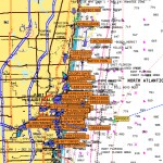 Active AIS vessel icons blot out navigation areas from Port Everglades, Ft. Lauderdale north up the ICW on an overlay of electronic nautical charts. PHOTO/CAPT. BRIAN MITCHELL