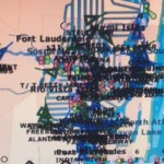 Active AIS vessel icons blot out navigation areas from Port Everglades, Ft. Lauderdale north up the ICW on an overlay of electronic nautical charts. PHOTO by CAPT. CLAUDE STRICKLAND