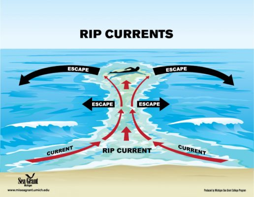 How to spot a rip current and get past it