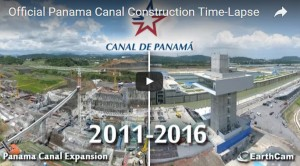 Time-lapse video by EarthCam celebrates opening of new Panama Canal