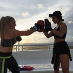 Ship Shape's Melissa McMahon shows that boxing workout takes little space but offers intense cardio.