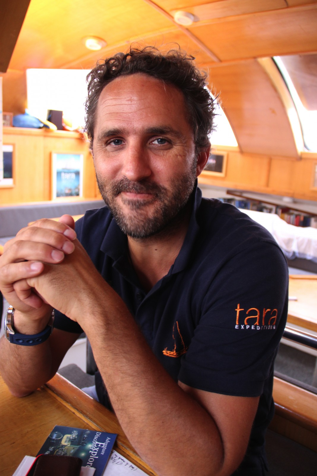 Tara Expeditions Foundation Managing Director Romain Trouble is a molecular biologist who has sailed America's Cup twice. PHOTO BY SUZETTE COOK