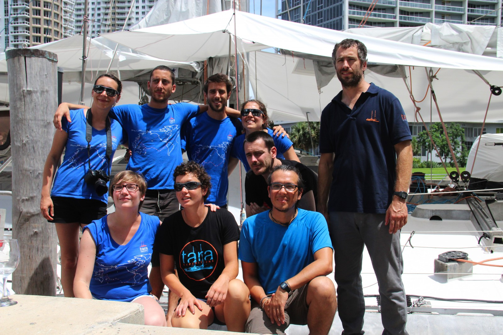 The crew and staff of S/Y Tara arrived at Epic Marina in Miami on June 28 and spent a week preparing for their 2016-2018 expedition. PHOTO BY SUZETTE COOK