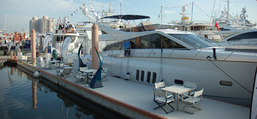 stock PBIBS show dock chairs clean yacht dc