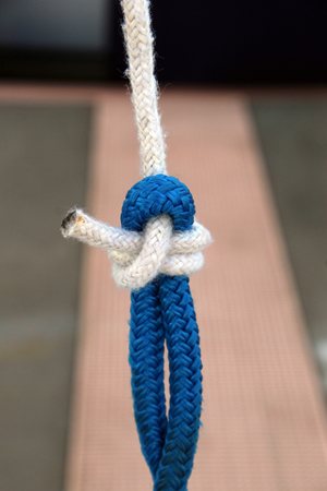 stock blue line white line sc knot
