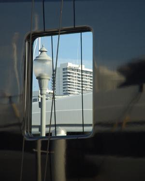 stock porthole reflection building blue hull dc