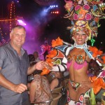 Capt. Rapley at the world-famous cabaret show at the Tropicana in Havana. PHOTO PROVIDED