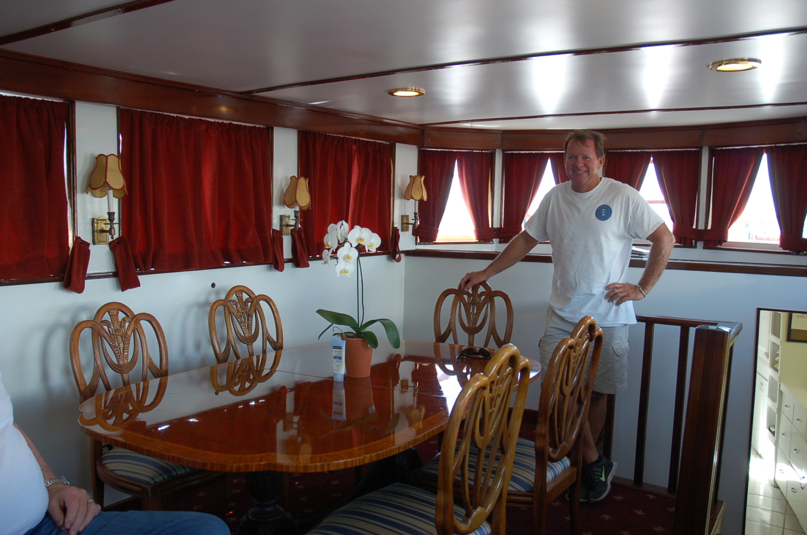 Capt. Greg Albritton is a wealth of historical knowledge -- including some personal stories -- with the former presidential yacht M/Y Honey Fitz. PHOTO/LUCY REED
