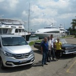 Superyachts with Old American Car & Guest Touring Van