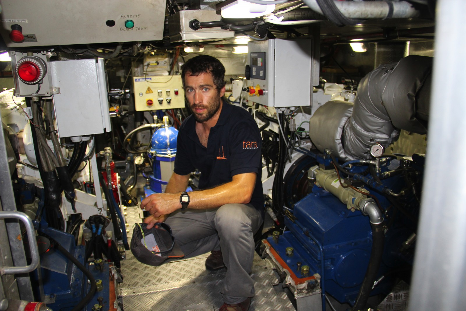 Capt. Samuel Audrain of France started working on S/Y Tara as a deckhand 10 years ago. He has been onboard with research expeditions around the globe. PHOTO BY SUZETTE COOK
