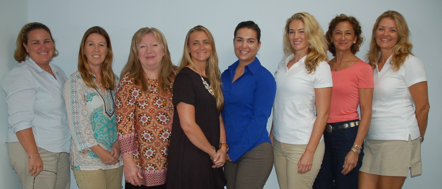 Attendees of The Triton's October From the Bridge luncheon were, from left, Capt. Veronica Hast, Capt. Vicki Melhuish, Chef Kathy Bell, Chief Stew Deborah Silvius, First Officer Delphine Estebe, First Officer Lia Usilton, Capt. Wendy Umla and Capt. Sally Wilkins. PHOTO/DORIE CO
