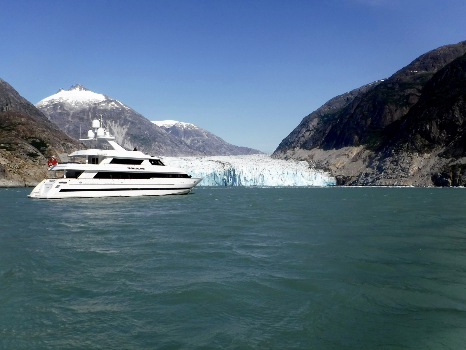 "M/Y Virginia Del Mar had a ""wonderful summer"" cruising the Pacific Northwest, Canadian Maritimes and Southeast Alaska, including Dawes Glacier. PHOTO BY BONGANI MABENA."