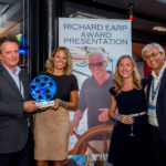 Alex Lees-Buckley (from left), Natalie Earp, daughter of the late Richard Earp, Lisa Peck of Fraser Yachts and Giulio Riggio of Fraser Yachts. PHOTO FROM BLUEIPROD