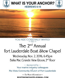 Annual Boat Show Chapel