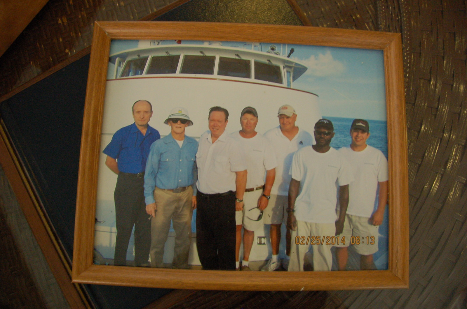 Capt. Larry Hastings shares a photo of the crew on M/Y Buckpasser. PHOTO/DORIE COX