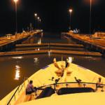 Panama Canal at night