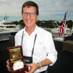 Michael Reardon, owner of Reardon Yacht Consulting, was honored with the USSA's Golden Compass yesterday. PHOTO/LUCY REED
