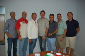 Attendees of The Triton's December From the Bridge lunch were, from left, Jared Burzler of M/Y Pipe Dreams, Capt. Steve Hubbard (freelance), Capt Rick Lenardson (freelance), Jeremy Creswell, Tim Hull, Alexis Del Salto (freelance) and Martin Secot of M/Y Arthur's Way. PHOTOS/DORIE COX