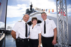 Best dressed crew on the docks at FLIBS