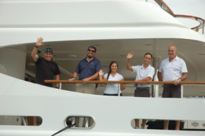 YMB17: Crew on the job on Saturday at Yachts Miami Beach