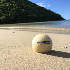 Golf balls made of fish food