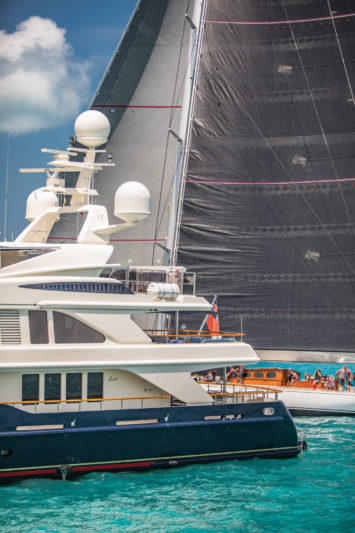 Crew on charter duty during America's Cup races