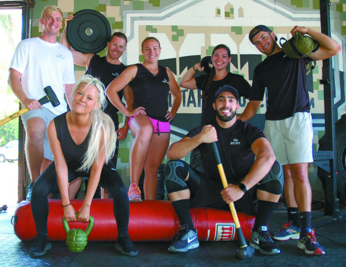 Crew's gym time together is an exercise in team building