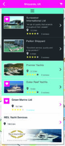 Superyacht app for supplies, services