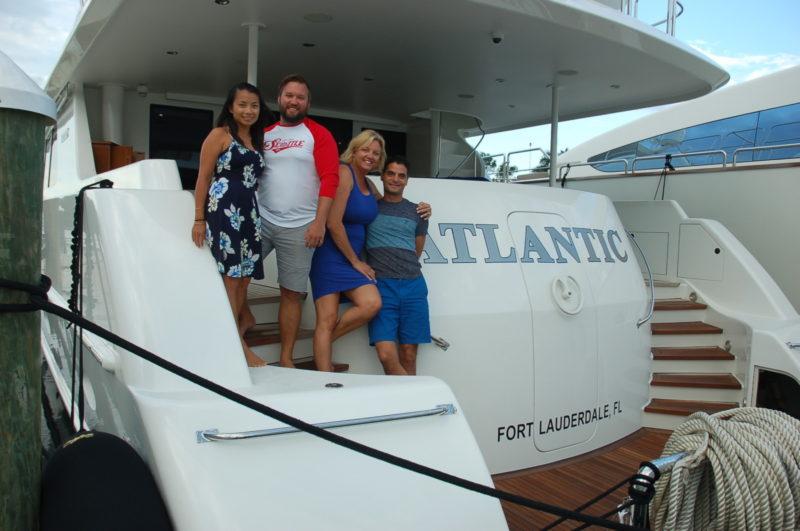 Yacht crew gather after weathering Hurricane Irma in UMC