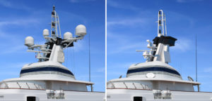 Domeless satellite tested at sea