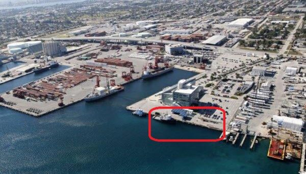 Port slip opens to yachts