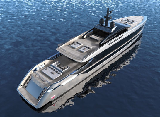 Tankoa presents new 53m planing yacht