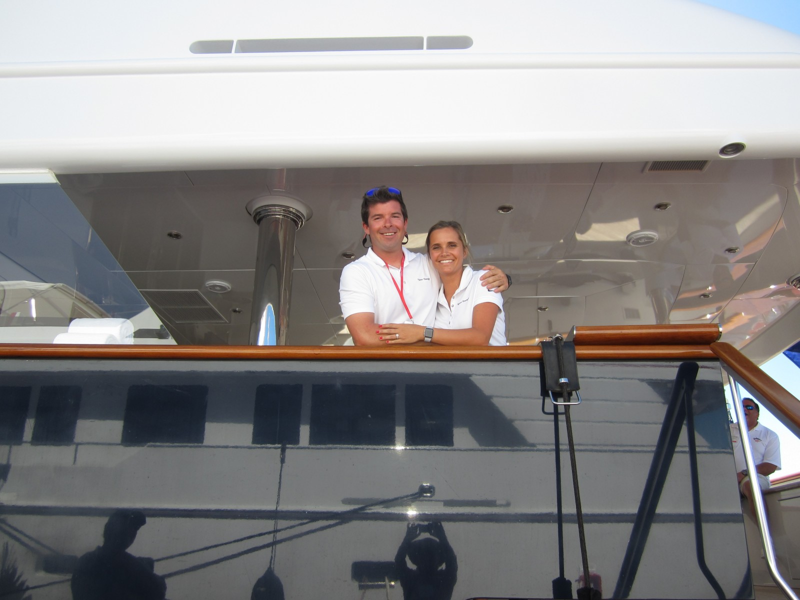 Miami18: Crew at work on opening day of Miami Yacht Show