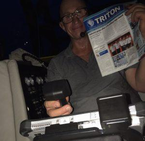 Triton Spotter: 1,000m down