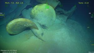 Allen's R/V Petrel finds wreckage of WWII cruiser