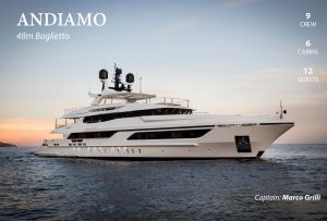 Latest news in the charter fleet: Andiamo with Hill Robinson; ILTB with NJ