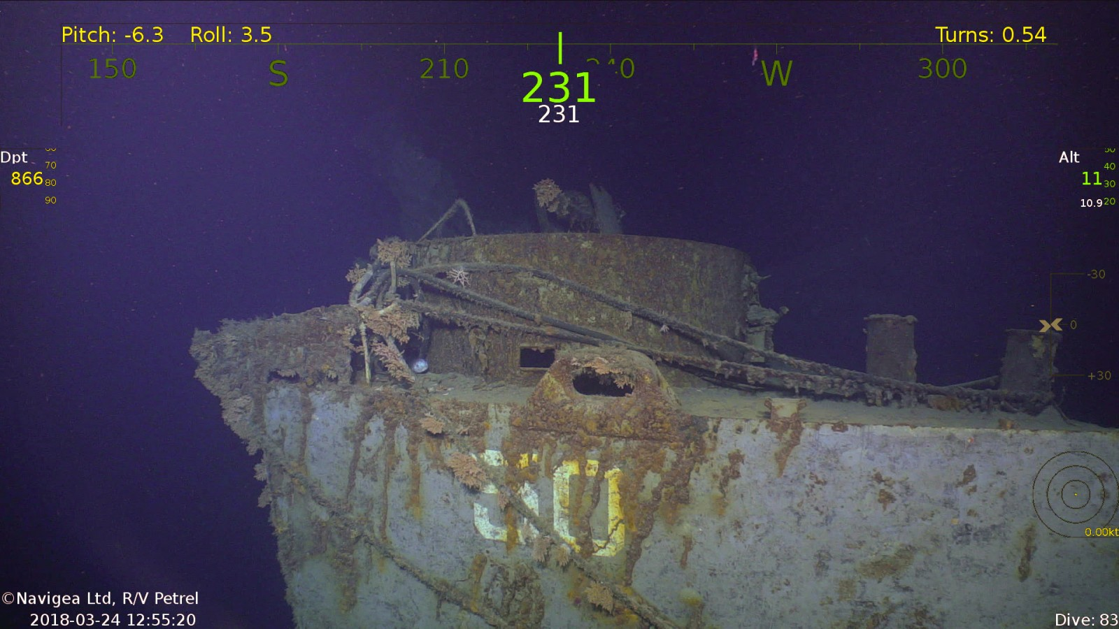 R/V Petrel finds another WWII ship | The Triton