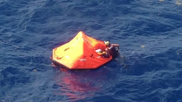 USCG rescues sailors in life raft