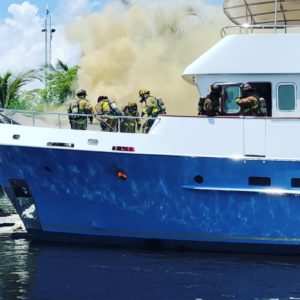 Yacht catches fire in Lauderdale